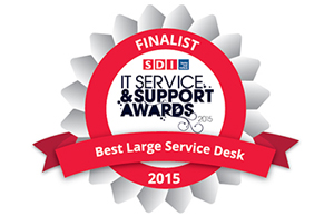 Runner up in the 'Best Large IT Service Desk' award
