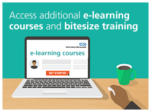 Access additional e-learning courses and bitesize training (opens in a new window or tab)